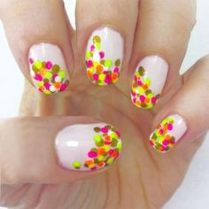 Neon Confetti Nails from Mojo Spa