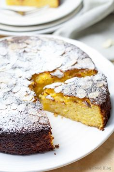This flourless dairy-free, wheat-free orange almond cake is quick and easy, the polar opposite of dry, and will wake up your taste buds. Who needs wheat when you can make such a gorgeous cake without it? Gluten Free Cakes, Gluten Free Baking, Gluten Free Almond Cake, Cake Recipes, Dessert Recipes, Desserts, Flour Recipes, Almond Flour Cakes, Orange And Almond Cake