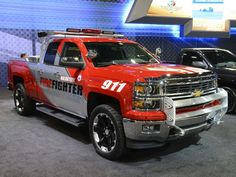 2013 Chevrolet Silverado Volunteer Firefighter Concept Firetruck Emergency  Pickup F Wallpaper Background