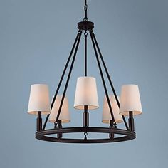 "MASTER BED Feiss Lismore 28 1/4"" Wide Oil-Rubbed Bronze Chandelier"