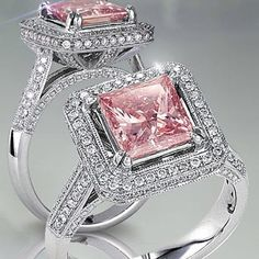 35 Pieces Of Gorgeous Jewelery Pink diamond engagement ring. -- 35 Pieces of Gorgeous Jewelry Pink Diamond Engagement Ring, Pink Diamond Ring, Engagement Jewelry, Solitaire Engagement, Pink Jewelry, Sapphire Jewelry, Diamond Jewelry, Women's Jewelry, Jewelry Candles