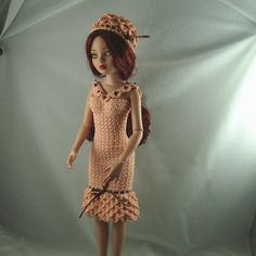 Crocheted petal dress for 16 inch dolls by pixiediva on Etsy, $35.00