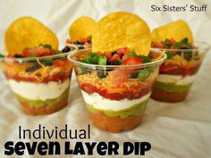 Nachos en porciones individuales.   Ideas y material gratis para fiestas y celebraciones Oh My Fiesta!