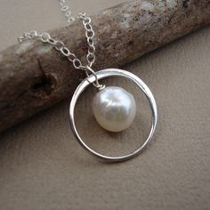 Pearl & Ring-I think I'll do this with my original wedding ring. It's too small for me now but I didn't want it resized. What a great way to start wearing it again.