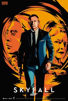 Illustrated 007 - The Art of James Bond: Title: Skyfall James Bond Skyfall, James Bond Movie Posters, James Bond Movies, Gentlemans Club, Craig Bond, Bond Cars, Alternative Movie Posters, Great Movies, I Movie
