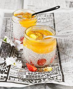 Chía con leche de coco, fresas y mango – Delicooks   Good Food Good Life