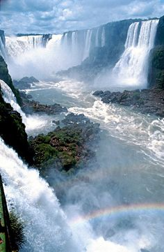 The Iguazu Falls are waterfalls of the Iguazu River on the border of the Argentina province of Misiones and the Brazilian state of Paraná. The Iguazu Falls is on the list of of Nature chosen through a global poll. Beautiful Waterfalls, Beautiful Landscapes, Parc National, National Parks, Places To Travel, Places To See, Travel Destinations, Holiday Destinations, Beautiful World