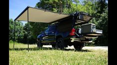 #JamesBaroud Awning, #wolf78-overland.ch #Toyota #Hilux #overland 2017 Revo #ProjektBlackwolf #offroad, roll out