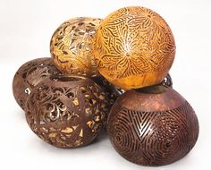 Carved Coconut Shells: Balinese craft from Indonesia