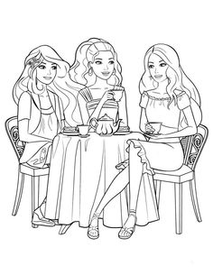 Barbie And Friends Coloring Pages | Kids Coloring Pages | Pinterest ...