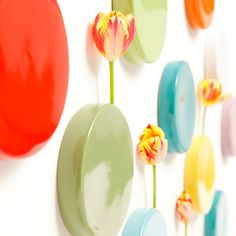 ordered 4 of these wall dot vases after seeing them at a boutique in Denver.  Probably will hang near glider...