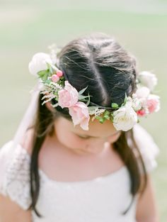 Adorable floral crown flower girl: Photography: Connie Whitlock Photography - conniewhitlockphoto.com/