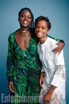 The cast of Marvel's 'Black Panther' united for an exclusive photo shoot at EW's photo studio in San Diego during Comic-Con -- shortly after debuting new footage to a standing ovation Afro, Black Girls Rock, Black Girl Magic, My Black Is Beautiful, Beautiful People, Letitia Wright, Black Panther Marvel, Black Women Art, Black Power