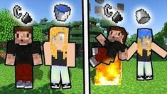 JAK ZROBIĆ WODNY/OGNISTY SKIN - Minecraft Skin - Narysuj siebie!