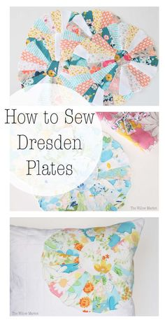 47 Ideas for patchwork table runner pattern dresden plate Dresden Plate Patterns, Dresden Plate Quilts, Quilt Block Patterns, Quilt Blocks, Quilting Tutorials, Quilting Projects, Quilting Designs, Sewing Projects, Sewing Tips