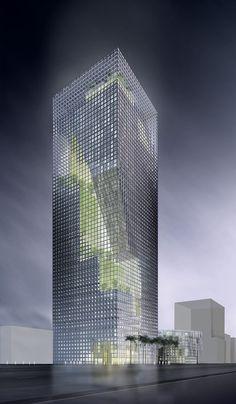 "MIPIM Architectural Review Future Project Awards 2010,Tall buildings: Al-Birr Foundation Headquarters ""Garden Tower"", Riyadh, Saudi Arabia, designed by Perkins+Will for Al-Birr Foundation"