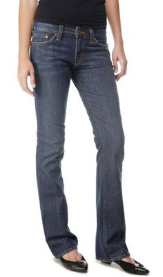 Lucky Brand Lola Bootcut Jeans with sassy simple flats. #missoulachic