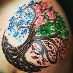 4 Seasons tree of life tattoo idea