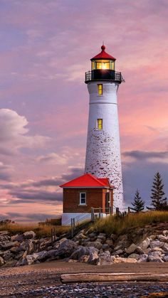 Leuchtturm in Michigan - lighthouse - Lighthouse Lighting, Lighthouse Painting, Lighthouse Pictures, Landscape Photography, Nature Photography, Travel Photography, Beacon Of Light, Beacon Of Hope, Am Meer
