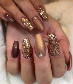 55 Stylish Coffin Nail Designs To Copy Right Now - Gelnägel - Nageldesign Natur Cute Acrylic Nails, Cute Nails, Pretty Nails, My Nails, Fall Nails, Winter Nails, Summer Nails, Fall Nail Art Designs, Acrylic Nail Designs