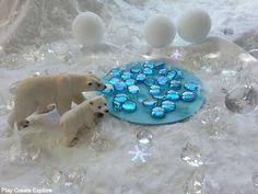 Winter Wonderland Small World Sensory Play Scene