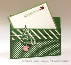 Stampin up stampin' up! stampinup stamping pretty mary fish festival of trees Love the uniqueness of the pocket and note!