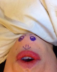 Haha boredom makes you do strange things. This is actually my chin lol