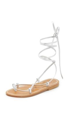 K. Jacques Bikini Wrap Sandals