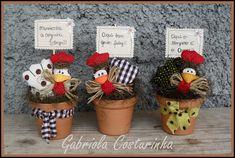 https://flic.kr/p/gzwKpG | ♥♥ vasinhos de galinhas ♥♥ | Alegria na cozinha com os vasinhos de mini galinhas e plaquinhas divertidas !!