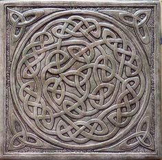 relief carving in pottery . similar to Handmade relief carved Celtic knot ceramic tile on Etsy click the image for further information Celtic Symbols, Celtic Art, Celtic Knots, Celtic Mandala, Celtic Dragon, Celtic Patterns, Celtic Designs, Raku Pottery, Slab Pottery