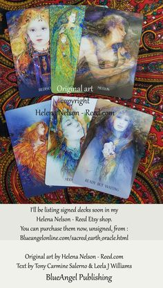 Earth oracle deck, card art by Helena Nelson - Reed, signed box, text by Toni Salerni and Leela Williams Deep Truths, New Earth, Oracle Cards, Deck Of Cards, Medium Art, Mother Earth, Art Images, Oracle Deck, Illustration Art