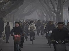 this just isn't right -wearing face masks while biking
