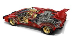 Here, we celebrate Eighties landmarks from Porsche, Ferrari, and, of course, Lamborghini, with archival cutaway drawings.