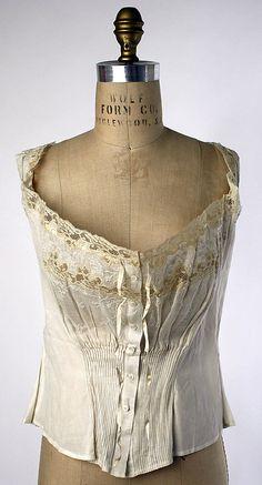 Corset Cover  Date:     ca. 1910  Culture:    French  Medium:     cotton  MET 45.165.9
