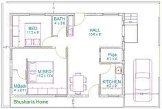 Impressive 30 X 40 House Plans 3 Small Ranch House Floor