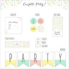 Imprimible Confetti Party: un regalo de Nina Designs