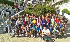 A group from the UAE enjoy the sun on their school trip to Barcelona.