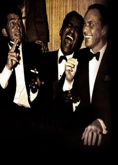 """The Rat Pack""- Dean Martin, Sammy Davis Jr. & Frank Sinatra"