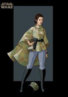 Endor Leia - Star Wars by Gary Anderson