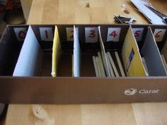 Husos Montessori caseros - Aprendiendo matemáticas