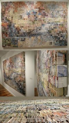 Recycled Art with Book
