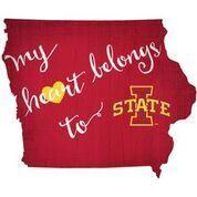 Iowa State  My Heart Belongs State Sign