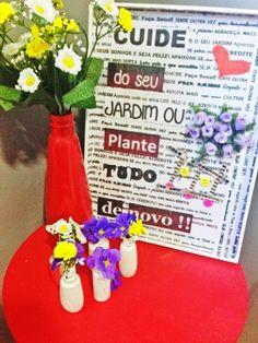 Diy Quadro de Flores para decoração