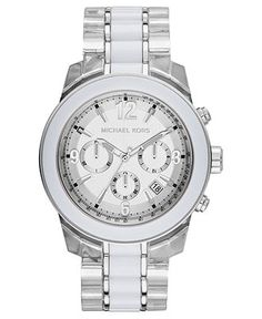 e2efda0d6235 Michael Kors Women s Chronograph Tri-Tone Acetate and Stainless Steel  Bracelet Watch 43mm MK5766   Reviews - Watches - Jewelry   Watches - Macy s