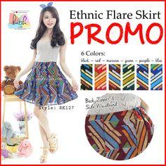 High Quality Ethnic Flare Skirt Batik (RK127) - http://www.afwindo.com/shoppusat-grosir-celana-rok-murah/high-quality-ethnic-flare-skirt-batik-rk127/