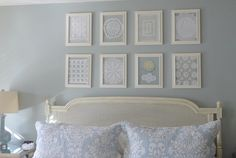 Love the idea of framing Grandma's doilies - sentimental and unique.