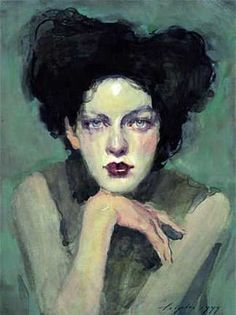 ♀ Painted Art Portraits ♀ Malcolm Liepke | Gaze, 1999