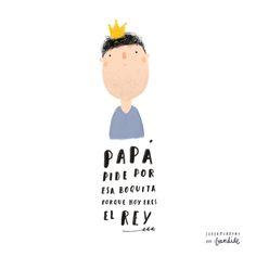 Father's day illustration. Feliz día del padre!  Design for kids.   Ropa de cama de diseño para niños.  #lascamasestanparadeshacerlas