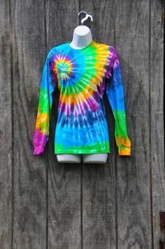 Spiral Pattern Tie Dye Shirt Adult Small by tiedyecollective, $26.00