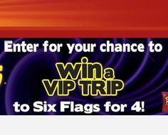 Win a trip to Six Flags worth $3,990.00. Don't break a sweat! All you have to do is submit the entry form on the site for your chance to enter.